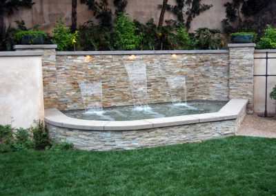 Spa with Spillway Wall